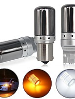 cheap -2 Pcs LED CanBus Turn Signal Light 1156 1157 7440 7443 LED Bulbs 3014 144SMD Canbus Turn Signal Lights Brake Lamp Backup Light Red White Yellow Lights