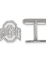 cheap -sterling silver rh-plated logoart ohio state university cuff link