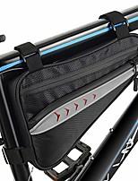 cheap -bike bag waterproof bicycle triangle frame bag bike front tube pouch bag bike storage bag (black, small)