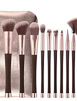 cheap -10pcs Waist Makeup Brushes Set For Beginners Portable Man-made Fiber Beauty Brushes