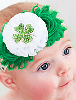 cheap -1pcs Toddler / Infant Girls' Active / Sweet Plants Flower Chiffon Hair Accessories Green One-Size