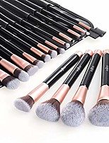 cheap -makeup brush set  16pcs professional cosmetic brushes with soft and cruelty-free synthetic fiber bristles - elegant pu leather pouch included