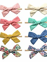 cheap -baby headbands and cotton bows, super soft & stretchy nylon hair bands for baby girls