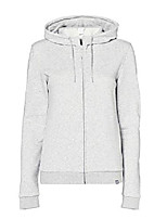 cheap -hooded jacket for women made of terry cloth, light gray, 44, label: xxl
