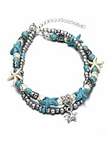 cheap -handmade starfish turtle anklet beads sea boho pearl adjustable charm anklets foot jewelry for women girls