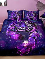 cheap -3D Tiger Print 3-Piece Duvet Cover Set Hotel Bedding Sets Comforter Cover with Soft Lightweight Microfiber For Holiday Decoration(Include 1 Duvet Cover and 1or 2 Pillowcases)