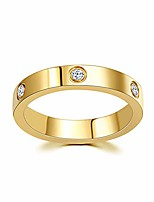 cheap -love ring 18k gold plated titanium steel ring for women wedding band statement ring size 5-10