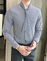 cheap -Tuxedos Standard Fit Single Breasted More-button Spandex / Polyester Stripes