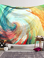 cheap -Wall Tapestry Art Decor Blanket Curtain Hanging Home Bedroom Living Room Decoration Polyester Fiber Painted Spiral Wave Orchid Pavilion Design