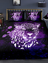 cheap -3D Leopard Print 3-Piece Duvet Cover Set Hotel Bedding Sets Comforter Cover with Soft Lightweight Microfiber For Holiday Decoration(Include 1 Duvet Cover and 1or 2 Pillowcases)