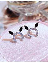 cheap -Women's AAA Cubic Zirconia Stud Earrings Marquise Cut Animal Stylish Korean Cute Earrings Jewelry Silver For Gift Prom Date 1 Pair