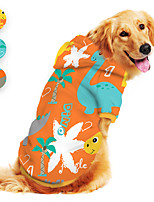 cheap -Dog Hoodie Dinosaur Animal Cartoon Funny Cute Casual / Daily Dog Clothes Puppy Clothes Dog Outfits Breathable Blue Orange Gray Costume for Girl and Boy Dog Polyster S M L XL