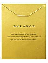 cheap -friendship bar necklace lucky key star pearl circle pendant necklace for women gift card … (golden, 20) (gold)