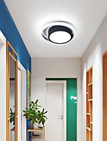 cheap -25 cm LED Ceiling Light Mini Modern Nordic Geometric Porch Light Corridor Aisle Round Square Shapes Flush Mount Lights Metal Painted Finishes LED Modern 220-240V