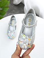 cheap -Girls' Heels Princess Shoes PU Little Kids(4-7ys) Daily Walking Shoes Gold Silver Spring Fall