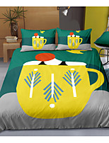 cheap -Cartoon 3-Piece Duvet Cover Set Hotel Bedding Sets Comforter Cover with Soft Lightweight Microfiber For Holiday Decoration(Include 1 Duvet Cover and 1or 2 Pillowcases)