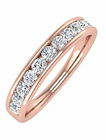 cheap -1/2 carat channel  diamond wedding band ring in 14k rose gold (ring size 8.5)