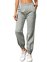 cheap -Women's Basic Casual Comfort Daily Jogger Sweatpants Pants Solid Color Full Length Pocket Gray