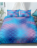 cheap -Blue Scale Print 3-Piece Duvet Cover Set Hotel Bedding Sets Comforter Cover with Soft Lightweight Microfiber(Include 1 Duvet Cover and 1or 2 Pillowcases)