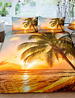 cheap -Island Landscape 3-Piece Duvet Cover Set Hotel Bedding Sets Comforter Cover with Soft Lightweight Microfiber For Holiday Decoration(Include 1 Duvet Cover and 1or 2 Pillowcases)