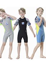 cheap -Boys' Shorty Wetsuit 2.5mm SCR Neoprene Diving Suit Quick Dry Short Sleeve Back Zip Patchwork Summer / Kids