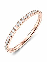 cheap -14k solid gold 2mm moissanite eternity wedding band (rose-gold, 6.5)