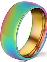 cheap -8mm titanium stainless steel rainbow gay lesbian wedding engagement colorful band lgbt pride ring size 9