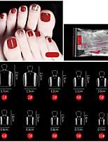cheap -500PCS Toe Transparent Nail French Pointed Nail Seamless Nail Ballet Nail Transparent Nail Toe Nail Toe Nail Piece