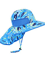 cheap -Boys' Girls' Hiking Cap 1 PCS Outdoor Windproof Breathable Ultraviolet Resistant Soft Hat Patchwork Polyester Taffeta Dark Pink Red Navy Blue for Climbing Beach Camping / Hiking / Caving
