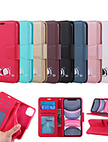 cheap -Case For Samsung Galaxy Galaxy A10(2019) / Galaxy A30(2019) / Samsung Galaxy A20(2019) Card Holder / Shockproof / Magnetic Full Body Cases Solid Colored TPU