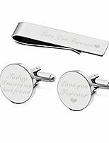cheap -today i marry my best friend cufflinks love you forever wedding cuff links keepsake gift cufflinks & tie clip bar tack (silver today i marry my best friend)