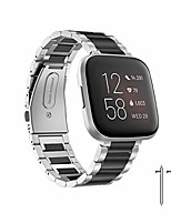 cheap -compatible with fitbit versa 2 band, durable solid stainless steel metal strap for fitbit versa 2 smartwatch (mixing)