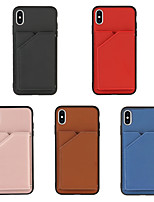 cheap -Case For Apple iPhone 12 / iPhone 11 / iPhone 12 Pro Max Shockproof Full Body Cases Solid Colored PU Leather / TPU