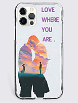 cheap -Graphic Prints Character Case For Apple iPhone 12 iPhone 11 iPhone 12 Pro Max Unique Design Protective Case Shockproof Back Cover TPU LOVE WHERE YOU ARE