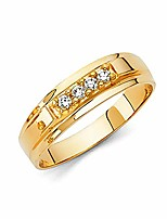 cheap -mens 14k yellow gold wedding band - size 9