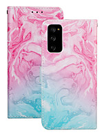 cheap -Case For Samsung Galaxy S20 Plus / S20 Ultra / S20 Shockproof Full Body Cases Color Gradient PU Leather / TPU