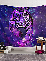 cheap -Wall Tapestry Art Deco Blanket Curtain Hanging Home Bedroom Living Room Dormitory Decoration Polyester Fiber Animal Painted Purple Tiger