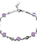 cheap -shiny rhinestone bracelet bangle statement party - purple jewelry gift