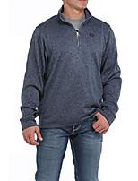 cheap -men's blue fleece 1/4 zip front pullover blue large