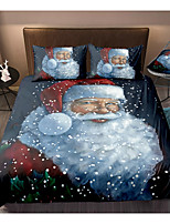 cheap -Christmas Santa Claus Print 3-Piece Duvet Cover Set Hotel Bedding Sets Comforter Cover with Soft Lightweight Microfiber For Holiday Decoration(Include 1 Duvet Cover and 1or 2 Pillowcases)