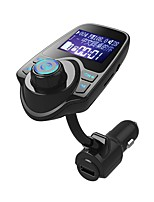 cheap -T10 Wireless In-Car Bluetooth FM Transmitter Radio Adapter Car Kit Display Supports TF Card and USB Car Charger for All Smartphones Audio Players