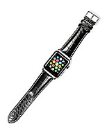 cheap -replacement watch band - crocodile grain - black - compatible with 42mm & 44mm series 1, 2, 3, 4, and 5 apple watch [silver adapters]