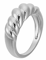 cheap -rhodium plated bold domed ring | thin croissant dome stackable rings | wide gold band