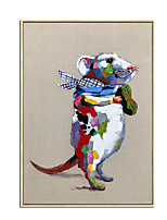 cheap -100% Hand-Painted Contemporary Art Oil Painting On Canvas Modern Paintings Home Interior Decor Mouse Art Painting Large Canvas Art(Rolled Canvas without Frame)