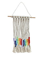cheap -Hand Woven Macrame Wall Tapestry Hanging Bohemian Boho Art Decor Blanket Curtain Home Bedroom Living Room Decoration Nordic Handmade Tassel Cotton Colorful 25.5*34cm