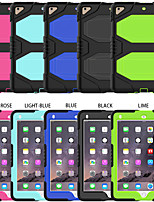 cheap -Case For Samsung Galaxy Tab A 10.5 T595 T590 / Samsung TAB E 9.6 T560 / T561 / T565 / T567V Shockproof Back Cover Solid Colored Silicone / PC