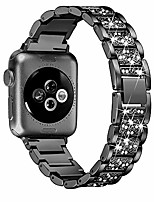 cheap -apple watch series strap 38mm 40mm 42mm 44mm, shining rhinestone stainless steel strap rhinestone bracelet strap  watchband for iwatch series 6/se/5/4/3/2/1,black