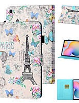 cheap -Case For Samsung Galaxy Samsung Tab A 10.1(2019)T510 / Samsung Tab A 10.1(2019)T515 / Galaxy Tab A 10.5 T595 T590 Shockproof Full Body Cases Butterfly PU Leather / TPU