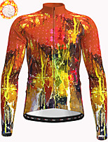 cheap -21Grams Men's Long Sleeve Cycling Jacket Winter Fleece Polyester Red Bike Jacket Top Mountain Bike MTB Road Bike Cycling Thermal Warm Fleece Lining Breathable Sports Clothing Apparel / Stretchy