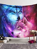 cheap -Wall Tapestry Art Deco Blanket Curtain Hanging Home Bedroom Living Room Dormitory Decoration Polyester Fiber Animal Wolf Red Blue